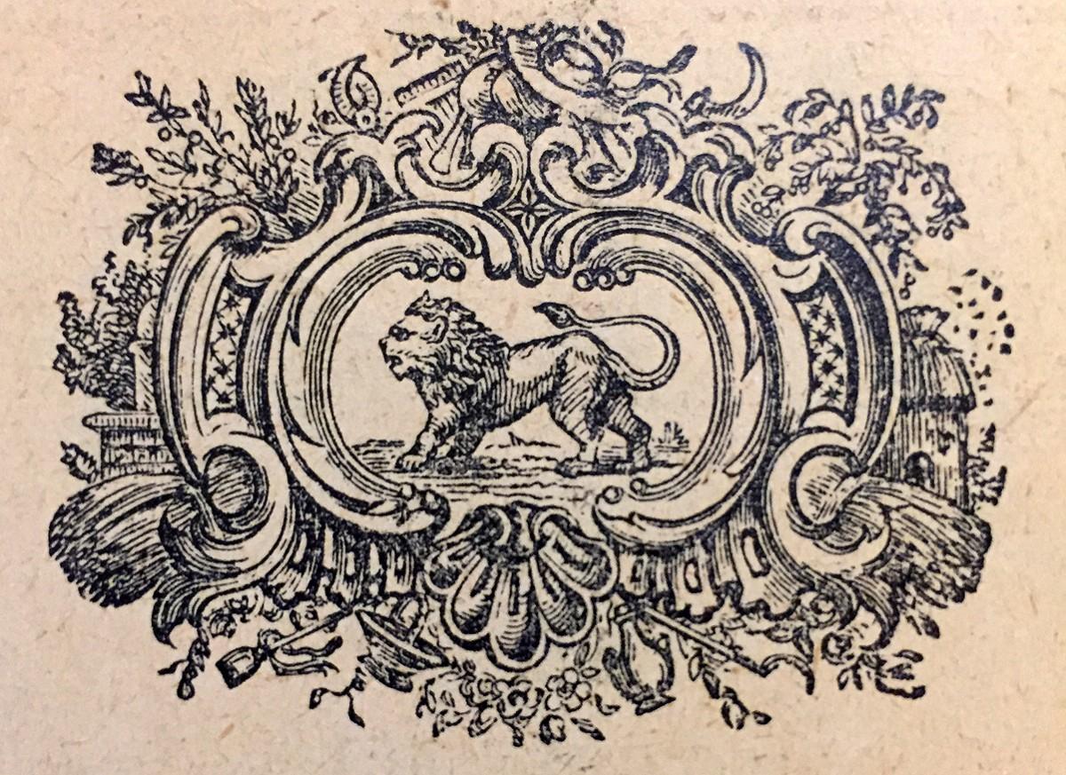 Lav, horoskopski znak. Vinjeta iz kalendara za 1914. god.