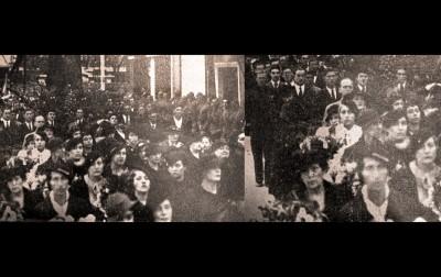 Lica na splitskoj obali pri ispraćaju ubijenog kralja Aleksandra Ujedinitelja 1934