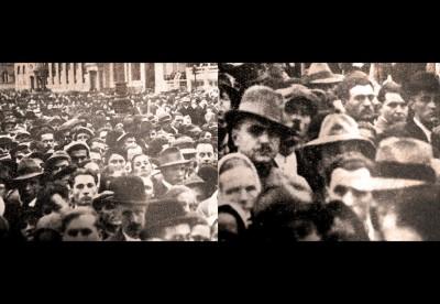 Lica Zagrepčana prisutnih na poklonu ubijenom kralju Aleksandru Ujedinitelju 1934