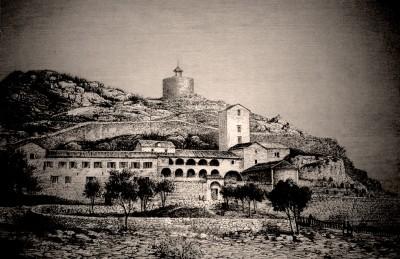 Cetinjski manastir. Cetinje 1876. godine