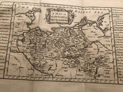 Mapa vojvodstva Meklenburg, 18. vek. Postojbina Polapskih Slovena