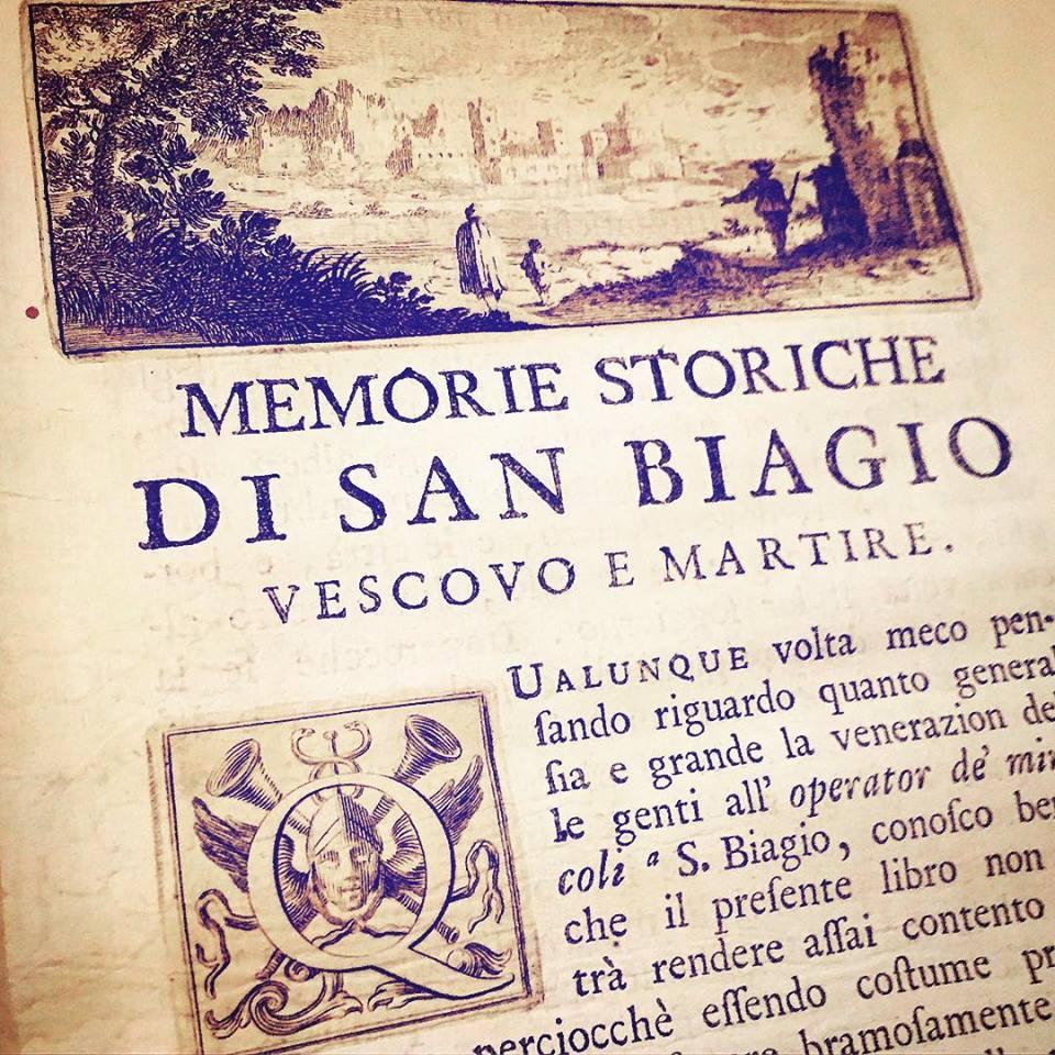 Istorijske uspomene na S. Biagia, biskupa i zaštitnika Republike Raguse (1752 g.)