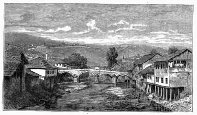 Most na Miljacki u Sarajevu, Bosna (19. vek)
