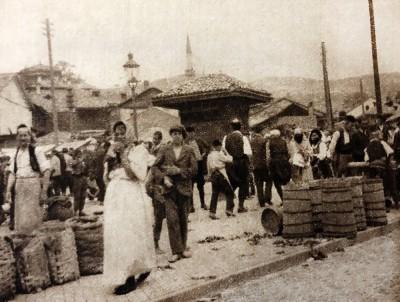 Nedeljna pijaca u Sarajevu oko 1920. god.