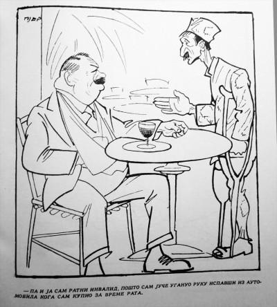 Pjer, karikature: Ratni invalidi