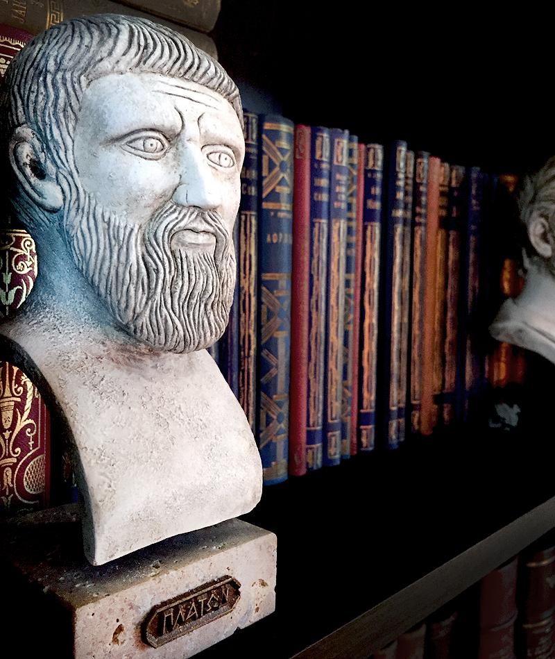 Platon Πλάτων  427. p. n. e. – 347. p. n. e., starogrčki filozof. Bista u kamenu
