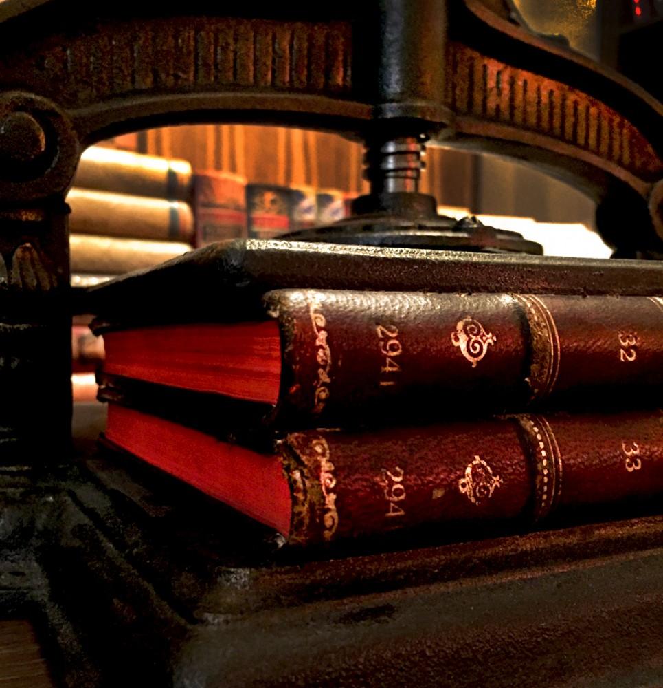 Knjige 2941 i 2942 u knjigovezačkoj presi