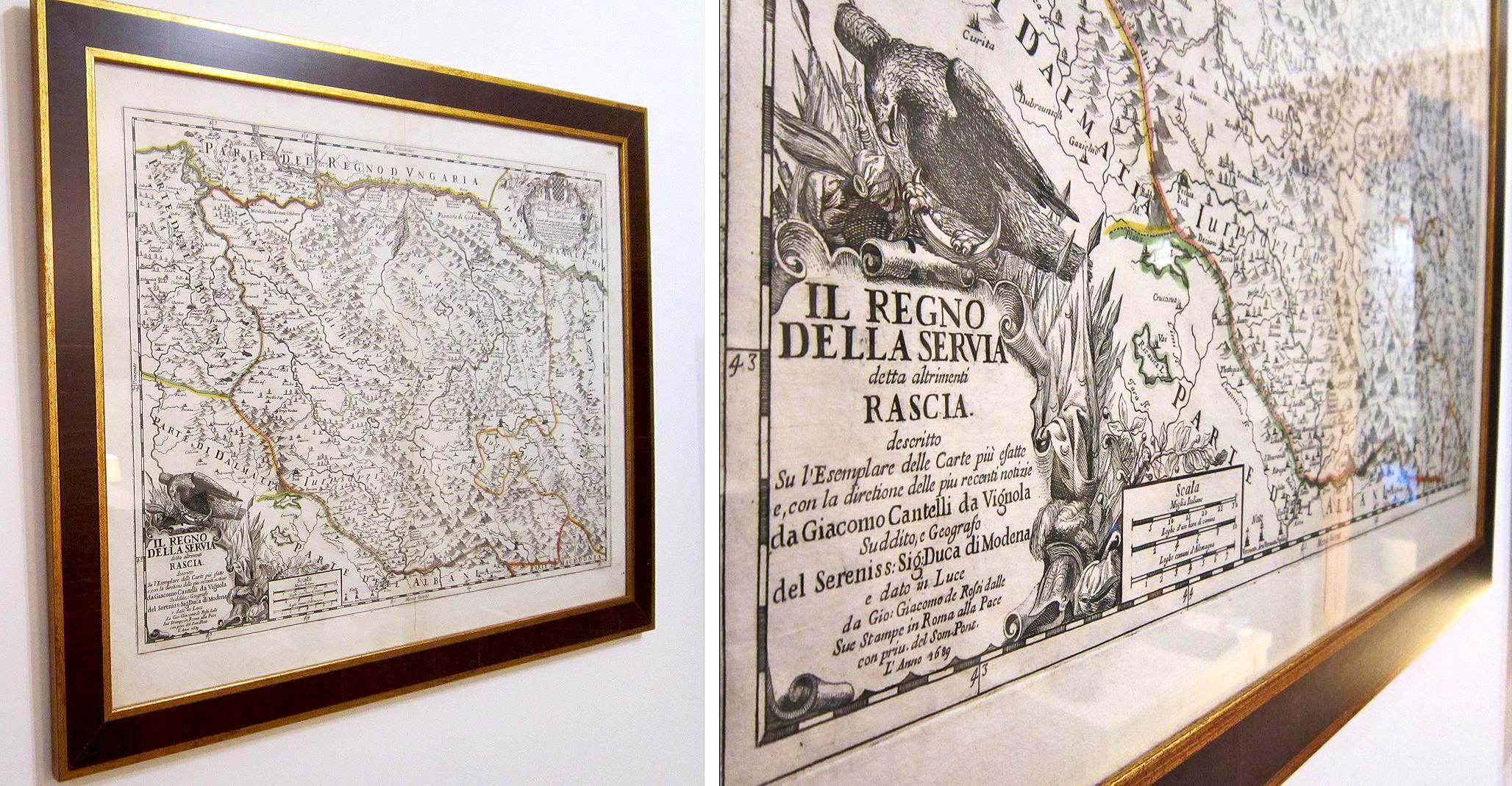 Fotomagacin Prva Regionalna Karta Srbije Iz 1689 Godine đakomo