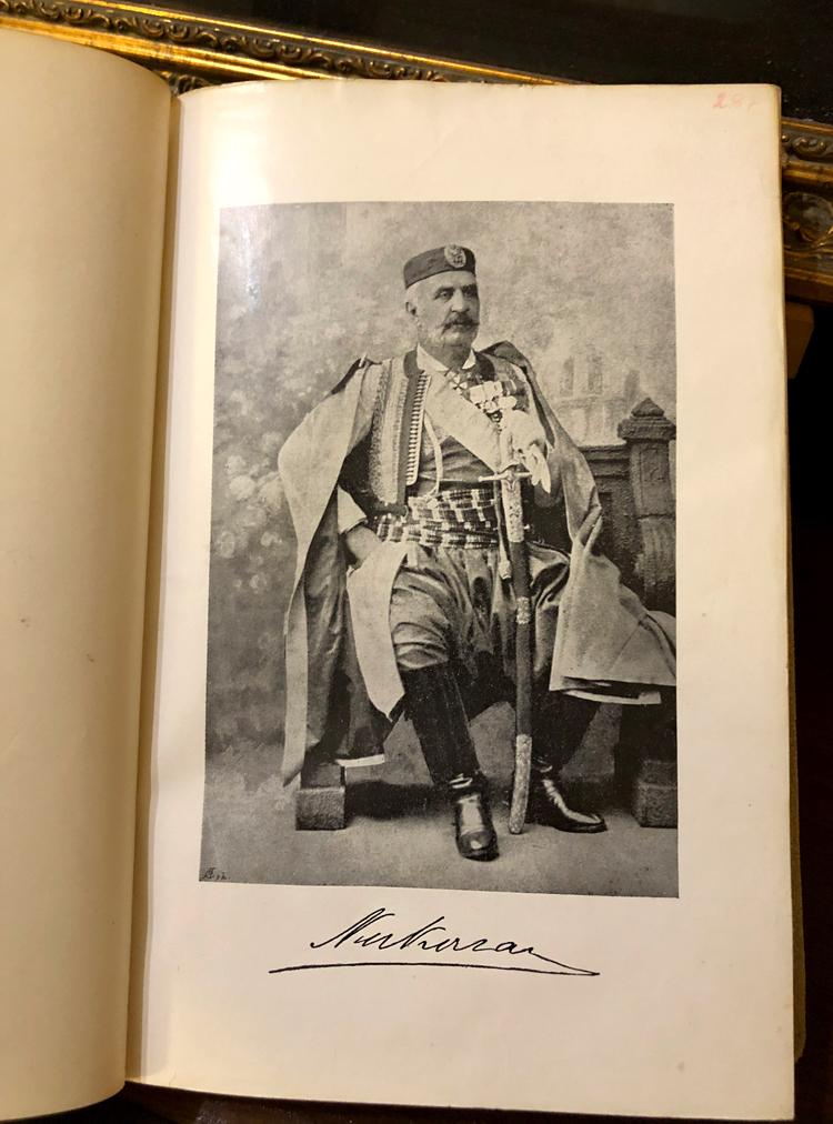 Kralj Nikola I Petrović, fotografija sa potpisom