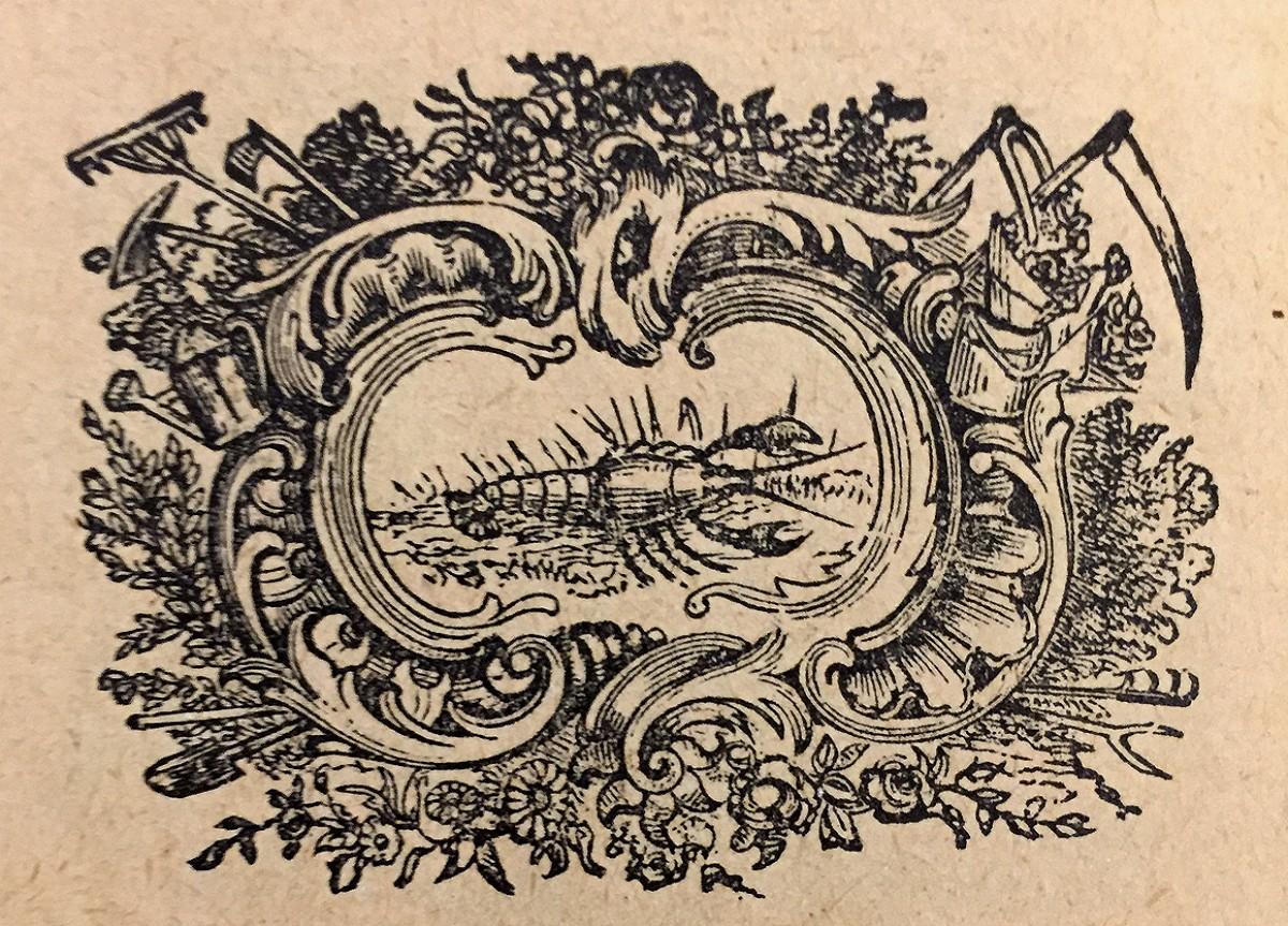 Rak, horoskopski znak. Vinjeta iz 1914. god.