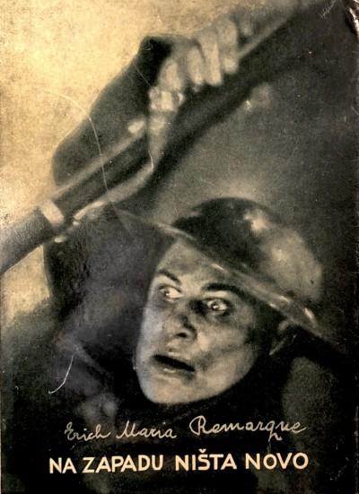Na zapadu ništa novo : omot prvog srpskog izdanja iz 1929