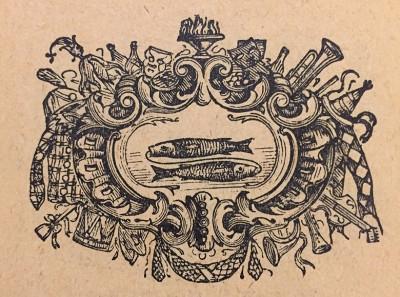 Ribe, horoskopski znak. Vinjeta iz 1914. god.