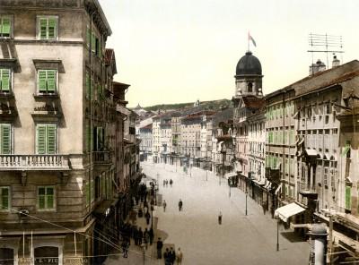 Rijeka, Korzo oko 1890. godine (HQ)