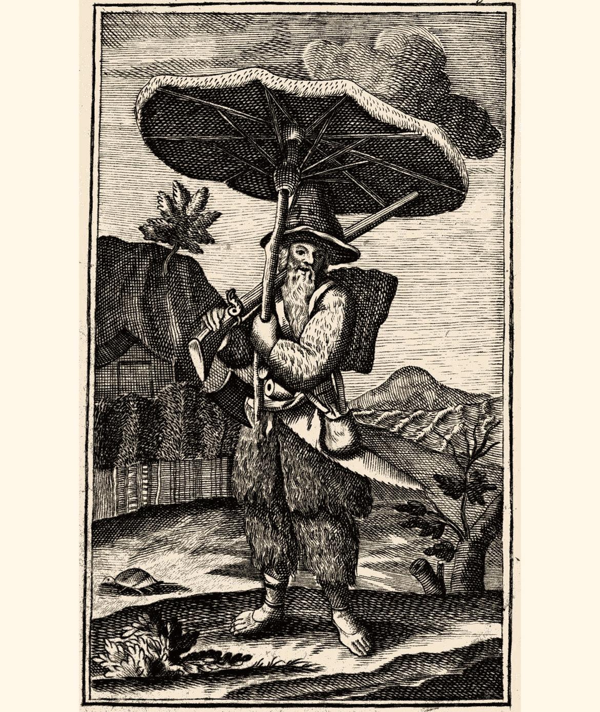 Robinzon Kruso : Ilustracija iz prvog srpskog izdanja iz 1799.