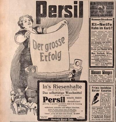 Persil deterdzent, austrijska reklama iz 1914.
