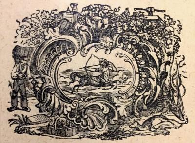 Strelac, horoskopski znak. Vinjeta iz srpskog kalendara iz 1914.