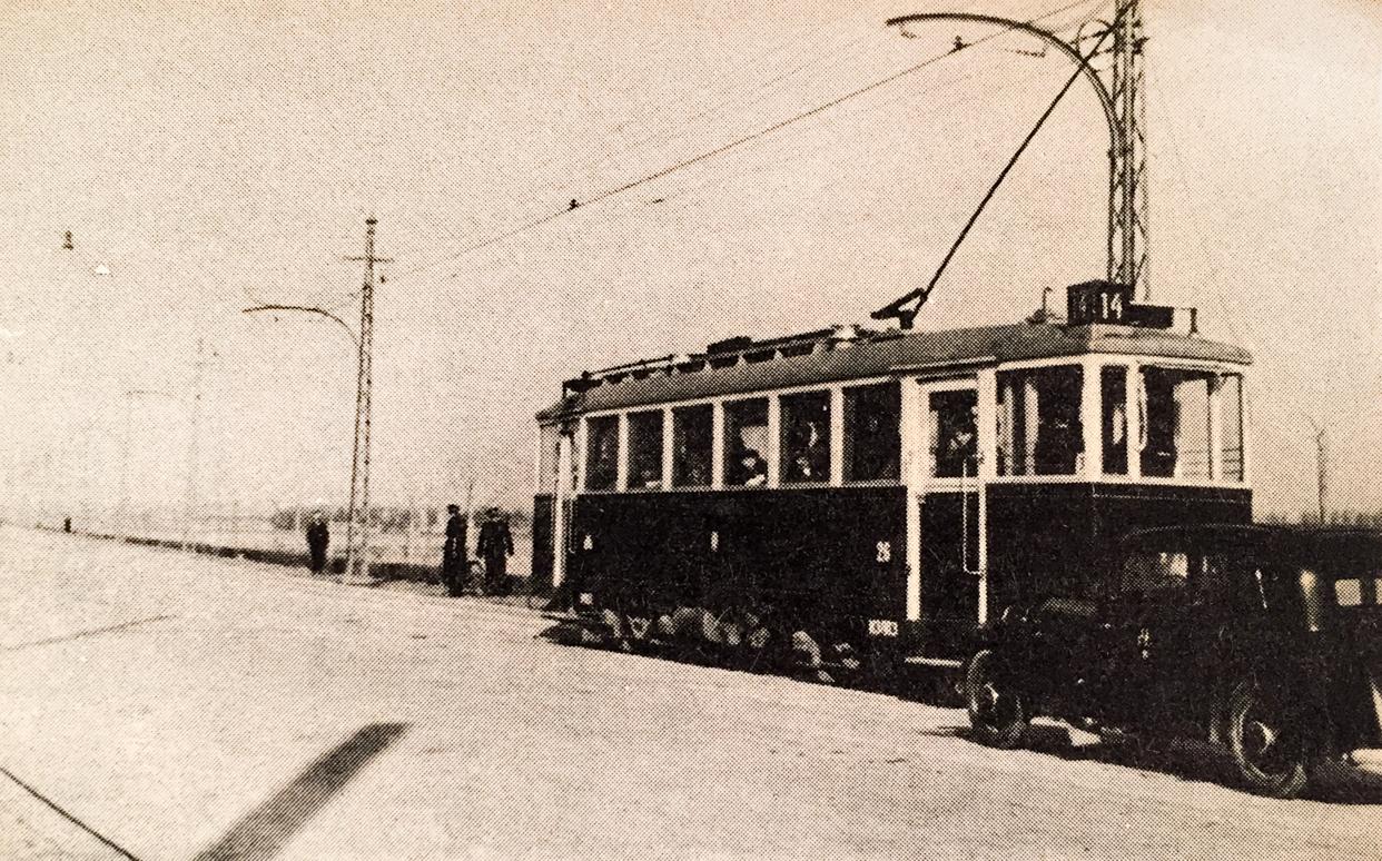 Nova tramvajska kola koja su krajem 30-tih godina vozila na relaciji Beograd-Zemun