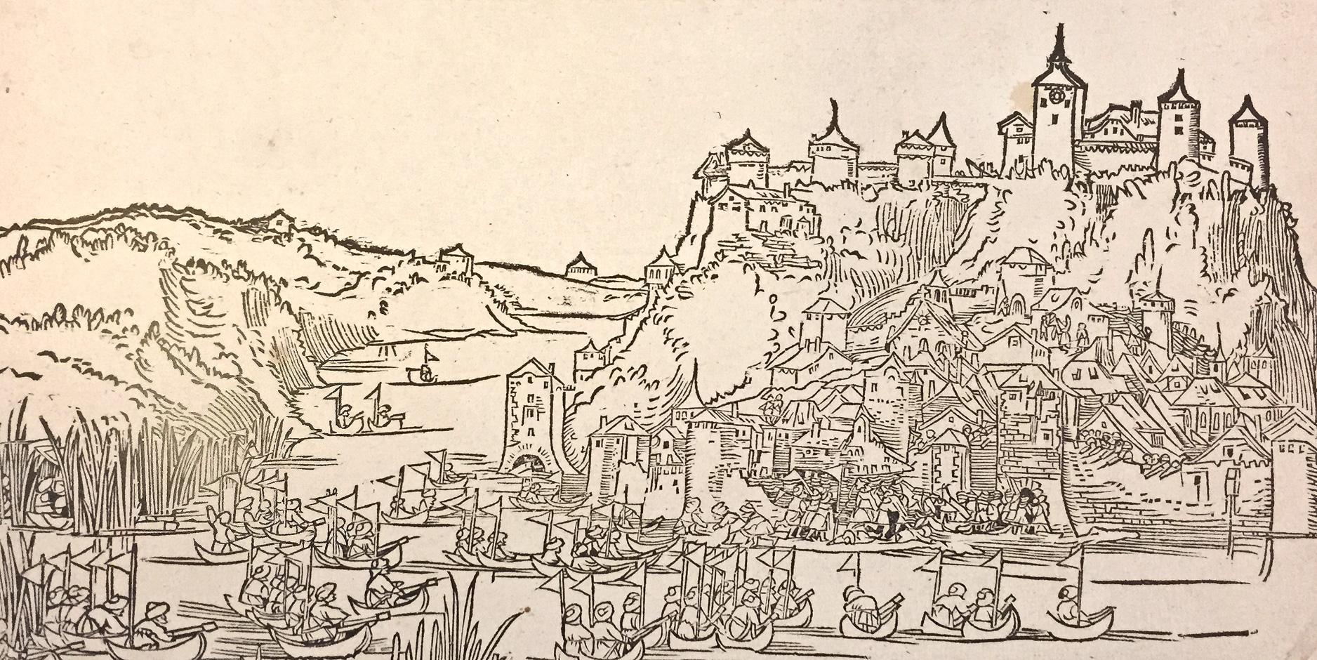 Tursko osvajanje Beograda 1521. godine. Gravira iz 1522. godine (Nirnberg, autor H. Z. Beham)