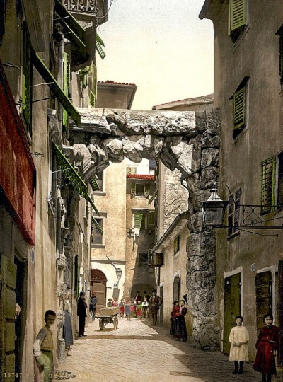 Ulica u Rijeci oko 1890-1900
