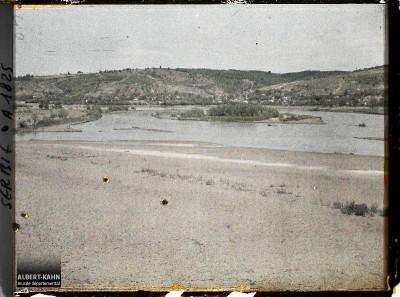 Peščana ostrva na ušću reka Rasina i Morava kod Kruševca (1913)