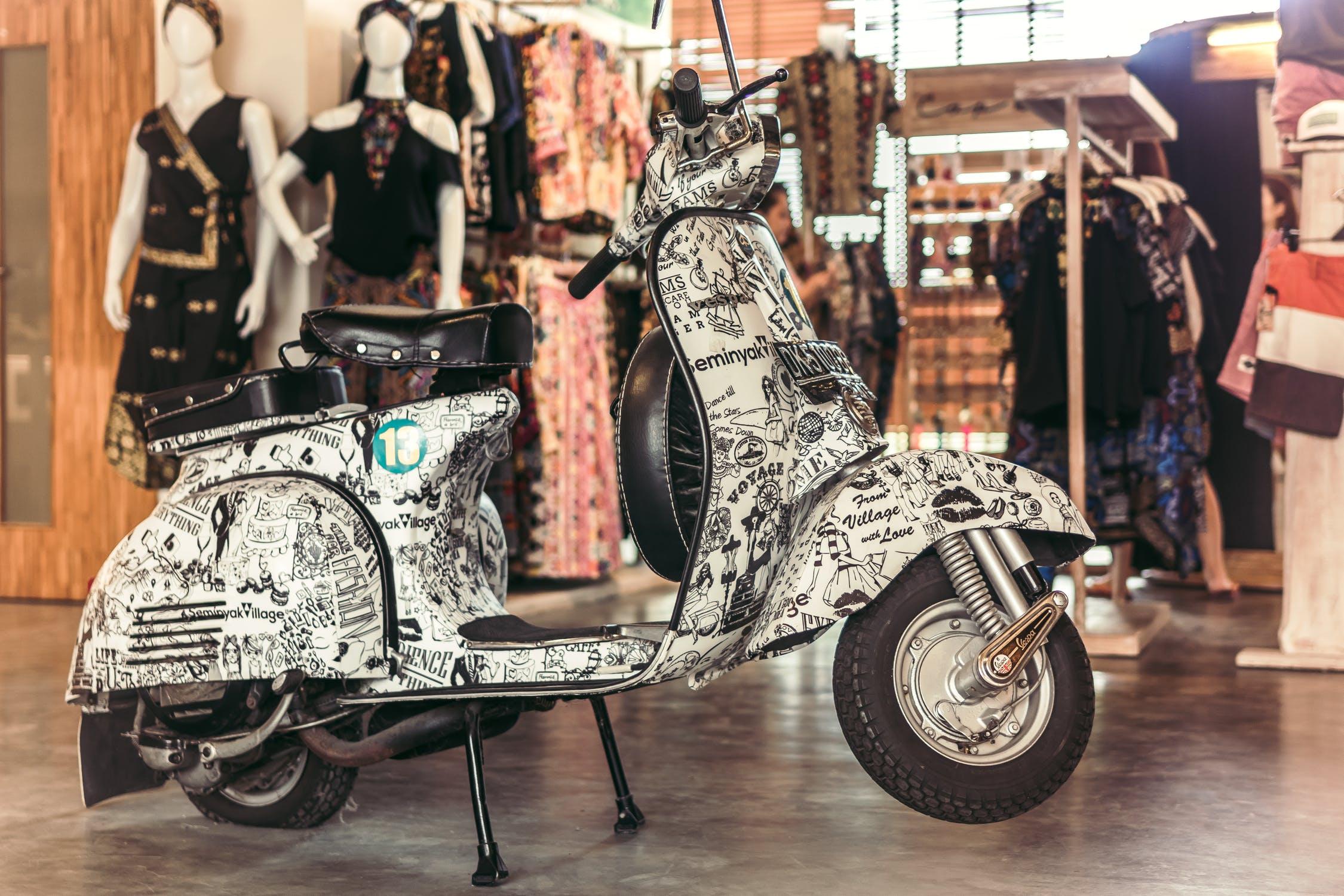 Vespa Motocikl Vintage