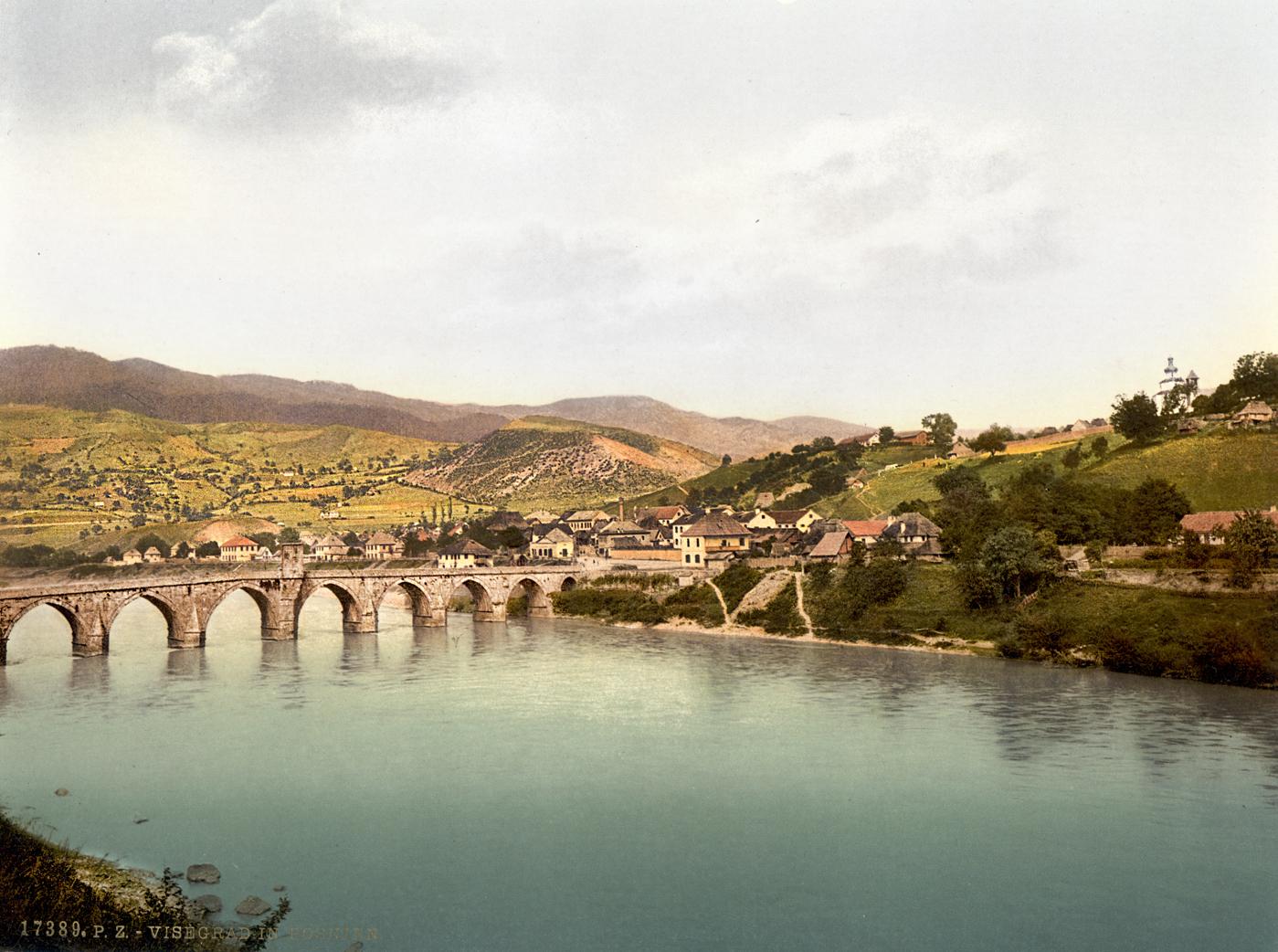 Višegrad : Most Mehmed Paše Sokolovića (oko 1890. godine) HQ