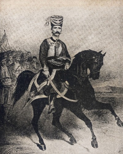 Vojvoda Mirko Petrović Njegoš (1820-1867) na konju