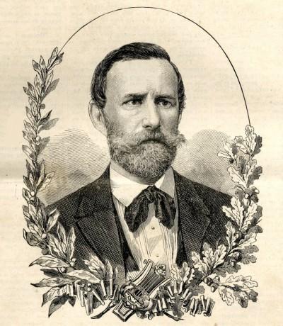 Jovan Jovanović Zmaj : portret objavljen 1874. g.