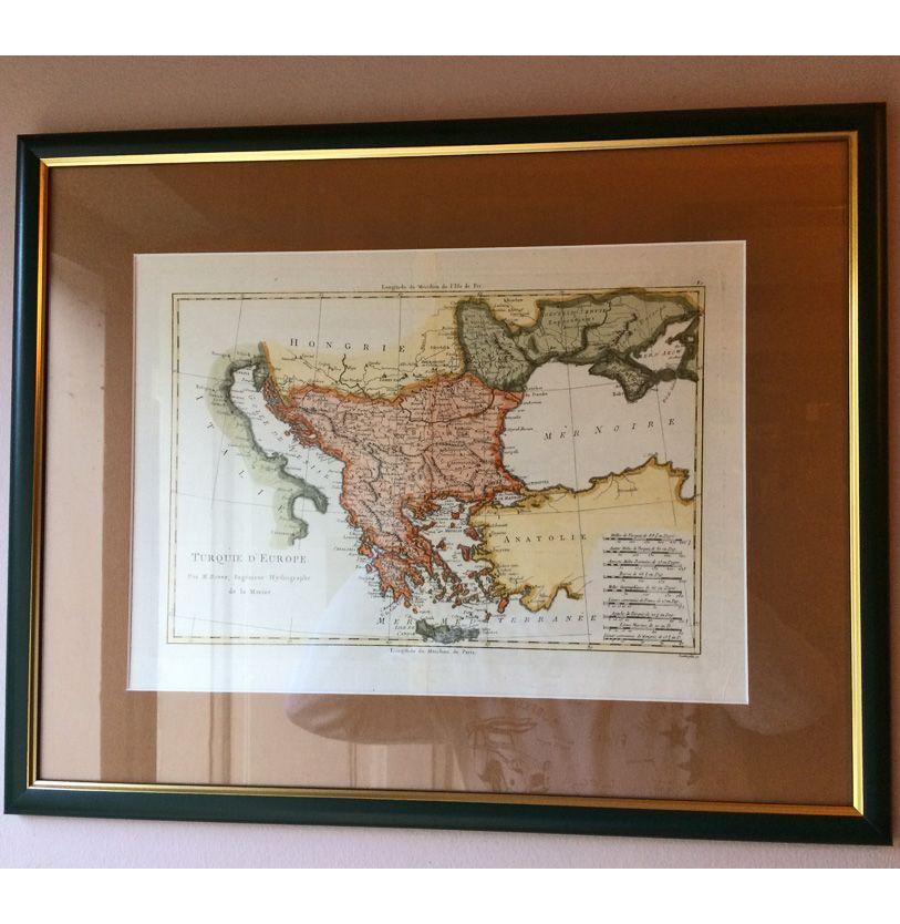 Balkan 1787 Geografska Karta Srbija Bosna Grcka Crna Gora
